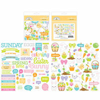 Doodlebug Design - Hoppy Easter Collection - Odds and Ends - Die Cut Cardstock Pieces