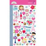 Doodlebug Design - French Kiss Collection - Cardstock Stickers - Mini Icons