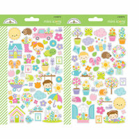 Doodlebug Design - Simply Spring Collection - Cardstock Stickers - Mini Icons
