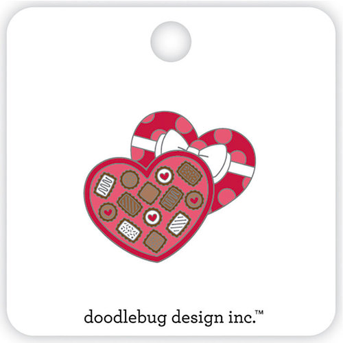 Doodlebug Design - French Kiss Collection - Collectible Pins - Chocolate Box
