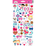 Doodlebug Design - French Kiss Collection - Cardstock Stickers - Icons