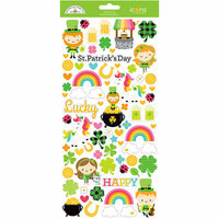 Doodlebug Design - Lots O' Luck Collection - Cardstock Stickers - Icons