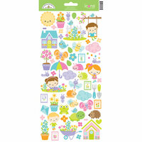 Doodlebug Design - Simply Spring Collection - Cardstock Stickers - Icons