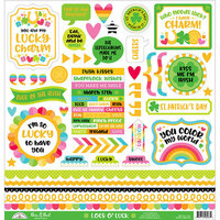 Doodlebug Design - Lots O' Luck Collection - 12 x 12 Cardstock Stickers - This and That with Foil Accents