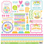Doodlebug Design - Simply Spring Collection - 12 x 12 Cardstock Stickers - This and That