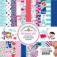 Doodlebug Design - French Kiss Collection - 6 x 6 Paper Pad