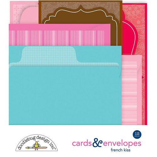 Doodlebug Design - French Kiss Collection - Create-A-Card - Cards and Envelopes - Assortment