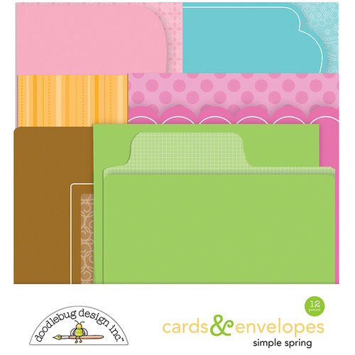 Doodlebug Design - Simply Spring Collection - Create-A-Card - Cards and Envelopes - Assortment