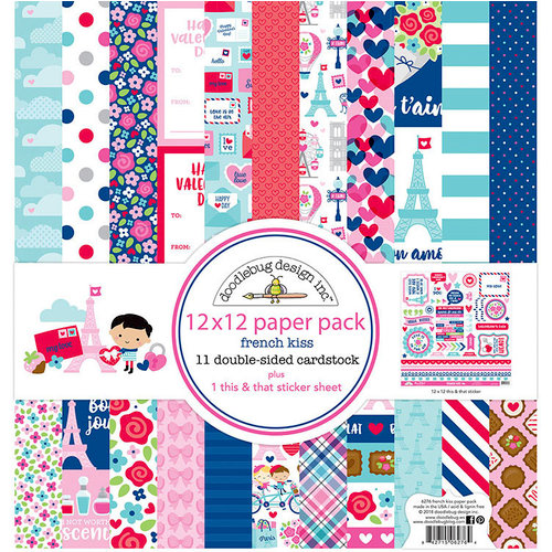Doodlebug Design - French Kiss Collection - 12 x 12 Paper Pack