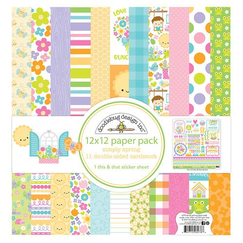 Doodlebug Design - Simply Spring Collection - 12 x 12 Paper Pack