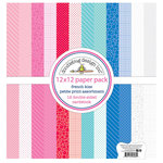 Doodlebug Design - French Kiss Collection - 12 x 12 Paper Pack - Petite Print