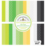 Doodlebug Design - Lots O' Luck Collection - 12 x 12 Paper Pack - Petite Print