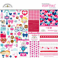 Doodlebug Design - French Kiss Collection - Essentials Kit