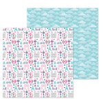 Doodlebug Design - French Kiss Collection - 12 x 12 Double Sided Paper - City of Love