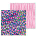 Doodlebug Design - French Kiss Collection - 12 x 12 Double Sided Paper - Les Fleurs