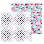 Doodlebug Design - French Kiss Collection - 12 x 12 Double Sided Paper - Love You Dots