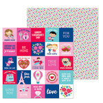 Doodlebug Design - French Kiss Collection - 12 x 12 Double Sided Paper - Petite Fleur