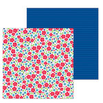 Doodlebug Design - French Kiss Collection - 12 x 12 Double Sided Paper - Just Rosey