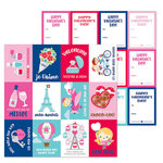 Doodlebug Design - French Kiss Collection - 12 x 12 Double Sided Paper - Mon Amour
