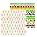Doodlebug Design - Lots O' Luck Collection - 12 x 12 Double Sided Paper - Bonnie Lass