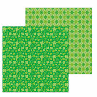 Doodlebug Design - Lots O' Luck Collection - 12 x 12 Double Sided Paper - Lots O' Luck