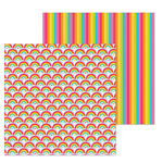 Doodlebug Design - Lots O' Luck Collection - 12 x 12 Double Sided Paper - Rainbows End