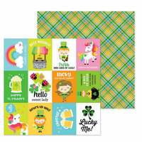 Doodlebug Design - Lots O' Luck Collection - 12 x 12 Double Sided Paper - Pot O'Gold