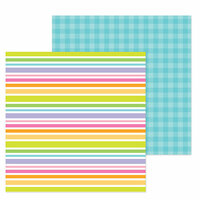 Doodlebug Design - Simply Spring Collection - 12 x 12 Double Sided Paper - Under My Umbrella