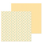 Doodlebug Design - Simply Spring Collection - 12 x 12 Double Sided Paper - Bee Happy
