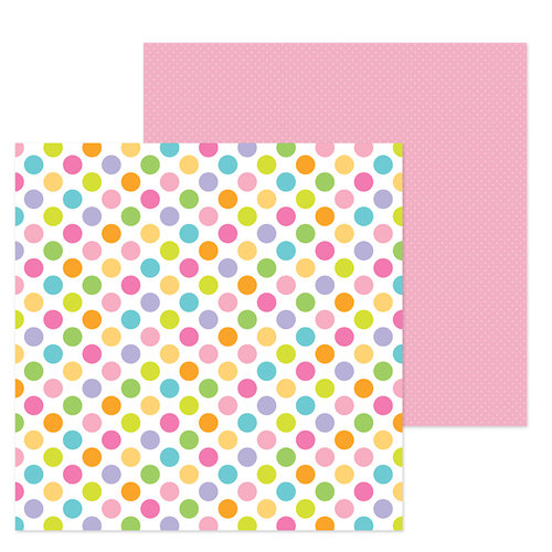 Doodlebug Design - Simply Spring Collection - 12 x 12 Double Sided Paper - Dot to Dot