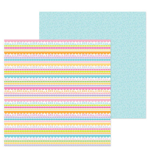 Doodlebug Design - Simply Spring Collection - 12 x 12 Double Sided Paper - Blue Skies