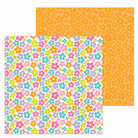Doodlebug Design - Simply Spring Collection - 12 x 12 Double Sided Paper - Pop of Posies