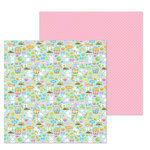 Doodlebug Design - Hoppy Easter Collection - 12 x 12 Double Sided Paper - Hoppy Easter