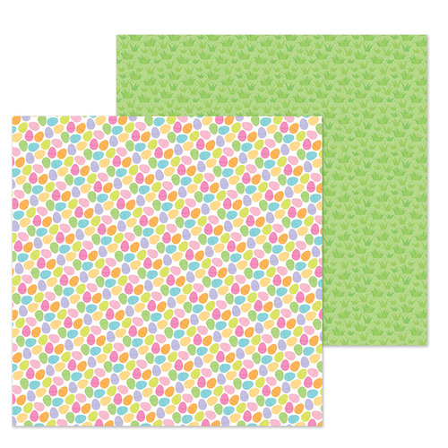 Doodlebug Design - Hoppy Easter Collection - 12 x 12 Double Sided Paper - Easter Egg Hunt