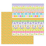 Doodlebug Design - Hoppy Easter Collection - 12 x 12 Double Sided Paper - Carrot Patch