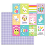 Doodlebug Design - Hoppy Easter Collection - 12 x 12 Double Sided Paper - Sunday Dress