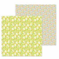 Doodlebug Design - Hoppy Easter Collection - 12 x 12 Double Sided Paper - Bunny Babies