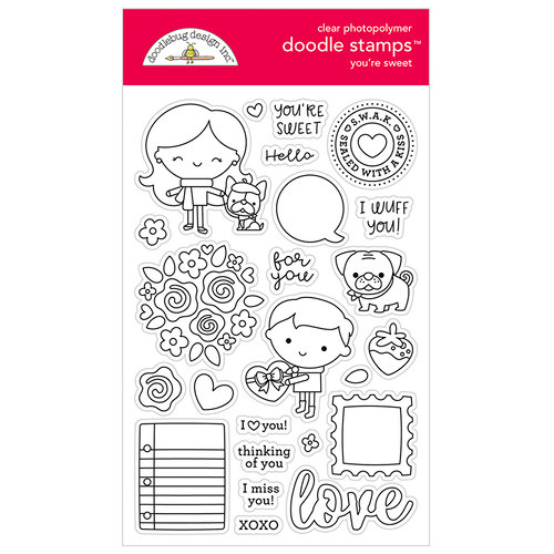 Doodlebug Design - French Kiss Collection - Clear Photopolymer Stamps - You