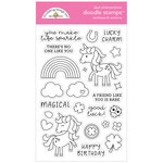 Doodlebug Design - Lots O Luck Collection - Clear Photopolymer Stamps - Rainbows and Unicorns