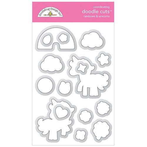 Doodlebug Design - Lots O Luck Collection - Metal Dies - Rainbows and Unicorns