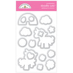 Doodlebug Design - Lots O Luck Collection - Metal Dies - Rainbows and Unicorns