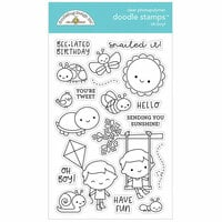 Doodlebug Design - Simply Spring Collection - Clear Photopolymer Stamps - Oh Boy!
