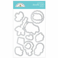 Doodlebug Design - Simply Spring Collection - Metal Dies - Oh Boy!