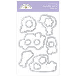 Doodlebug Design - Simply Spring Collection - Metal Dies - Flower Girl