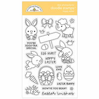 Doodlebug Design - Hoppy Easter Collection - Clear Photopolymer Stamps - Hoppy Easter