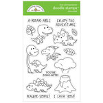 Doodlebug Design - So Much Pun Collection - Clear Photopolymer Stamps - Dino-mite!