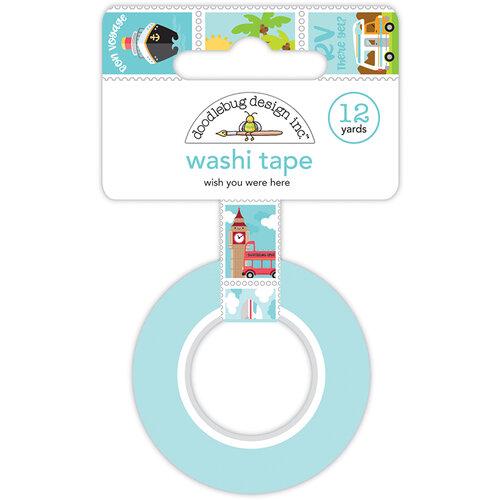 Doodlebug Design - I Heart Travel - Washi Tape - Wish You Were Here