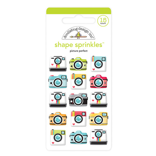 Doodlebug Design - I Heart Travel - Sprinkles - Self Adhesive Enamel Shapes - Picture Perfect