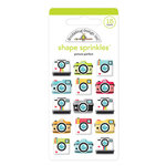 Doodlebug Design - I Heart Travel - Sprinkles - Self Adhesive Enamel Shapes - Picture Perfect