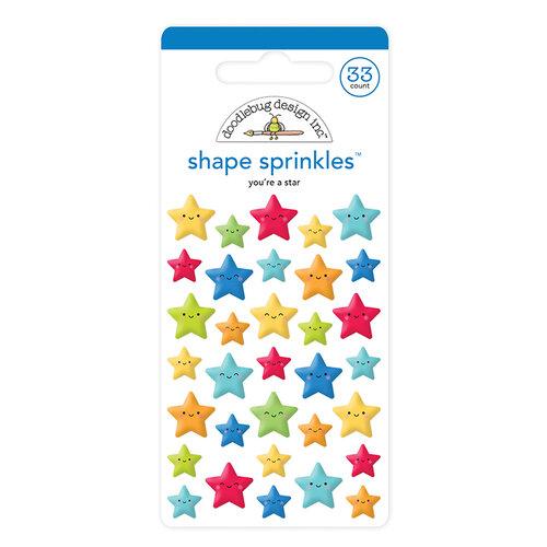 Doodlebug Design - School Days - Sprinkles - Self Adhesive Enamel Shapes - You